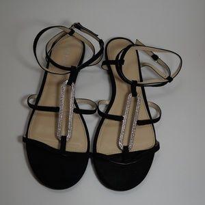 EUC Nine West rhinestone glitter gladiator sandal